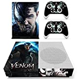 marvel skin decal - Vanknight Xbox One S Slim (XB1 S) Console 2 Controllers Remote Skin Set Marvel Vinyl Skin Decals Stickers Covers Wrap for XB1 S