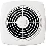 8 inch bathroom fan - Broan 509 Through-Wall Fan, 180 CFM 6.5 Sones, White Square Plastic Grille