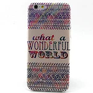 Iphone 6 Case, JAHOLAN What A Wonderful World Clear Bumper TPU Soft Case Rubber Silicone Skin Cover for iPhone 6 4.7 Inch