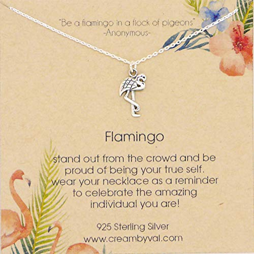 Flamingo Sterling Silver Necklace - 16'' Length
