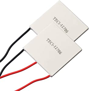 (2pcs) TEC1-12706 Heatsink Semiconductor Refrigeration Tablets 6A 12 Volt 60 Watt Thermoelectric Cooler Cooling Peltier Plate Module