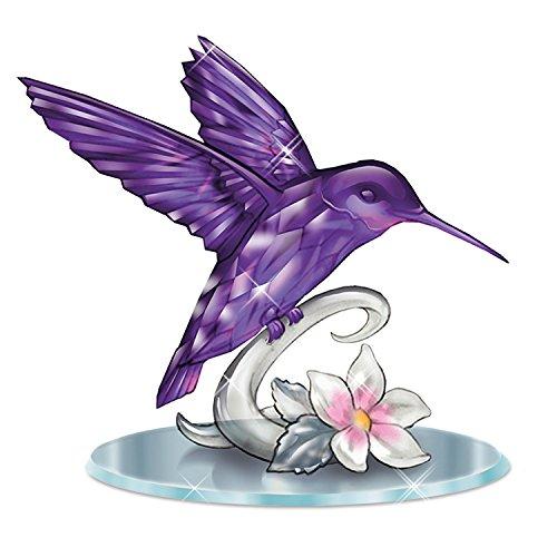 Lena Liu Amethyst Colored Crystalline Hummingbird Figurine by The Hamilton Collection
