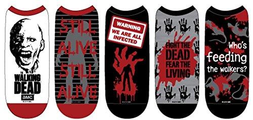 The Walking Dead Men's Low Cut Socks: 5-Pack