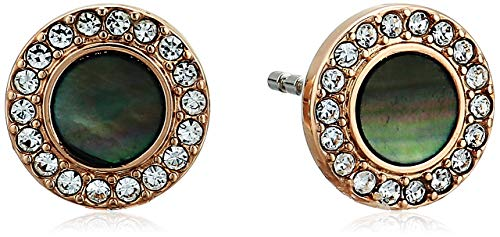 - Fossil Women's Gray Mother-Of-Pearl Glitz Studs Earrings, One Size