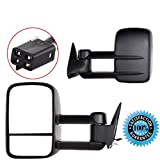 Scitoo 1988-1998 Chevrolet Gmc C K 1500 2500 3500 Truck Black Towing Power Side Mirrors Pair Set