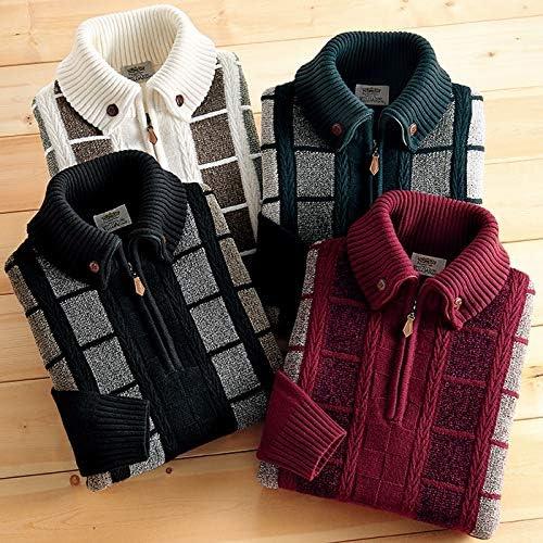 マフラー要らずの暖かセーター メンズ
