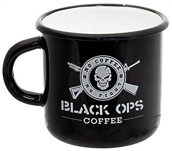 5a4681ef5fe BLACK OPS COFFEE Becher Emaille 300 ml Schwarz, Schwarz: Amazon.de ...
