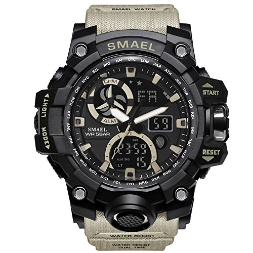 Mens Military Watch LED Display Digital Watch Sports Watches Multifunctional Large Wrist Watches