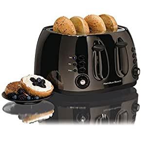 Black Ice Collection 4 Slice Toaster