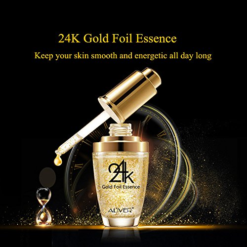 51heOpUMZtL - Moisturizer Serum for Face and Eye Area, 24K Gold Essence Anti Aging Wrinkle Moisturizing Firming Face Cream Treatment for Women Skin Care (Aliver)