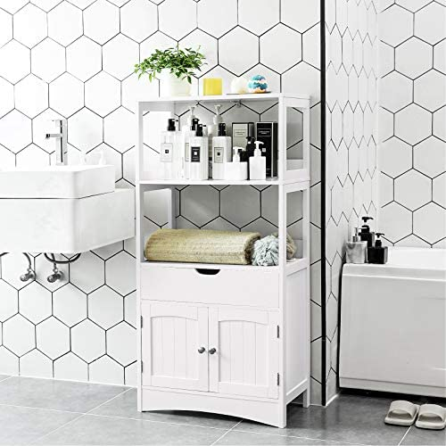home, kitchen, furniture, bathroom furniture,  bathroom sets 8 image VASAGLE Bathroom Storage Cabinet with Drawer, 2 Open deals