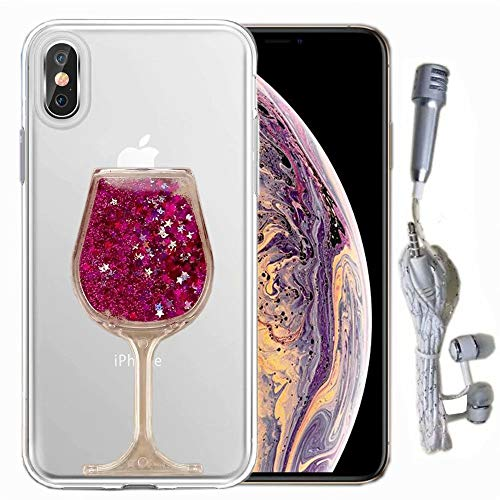 (for Samsung Galaxy S10 Plus Crystal Clear Case, QKKE [Wine Glass Hourglass Series] Clear Silicone Thin Shockproof Drop Protection Transparent Case for Samsung Galaxy S10 Plus (Goblet/Hot)