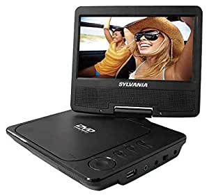 Curtis SDVD7030 7-Inch Sylvania Portable DVD Player, Swivel Screen, USB/SD Card Reader, with 4 Hour Rechargeable Battery and Car Bag