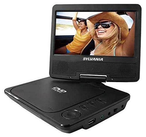 Sylvania 7-Inch Portable DVD Player, Swivel Screen, USB/SD Card Reader by Curtis