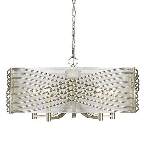 golden-lighting-5516-5-wg-shr-zara-five-light-chandelier-white-gold-finish-with-sheer-opal-shade