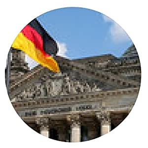 alfombrilla de ratón Bundestag alemán / Reichstag - ronda - 20cm