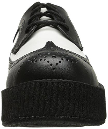 Leather T k Sole u Viva Creeper Black amp; Wingtip White Shoes Men's High 511Yxqpr