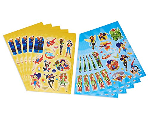 American Greetings DC Super Hero Girls Sticker Sheets, 10 Sheets Novelty