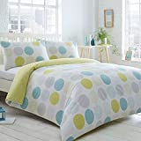Home Collection Basics Aqua Circles And Droplets Spotted Bedding Set Double by Debenhams