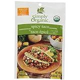Simply Organic Spicy Taco Seasoning Mix Seasoning Mixes, 32 gm