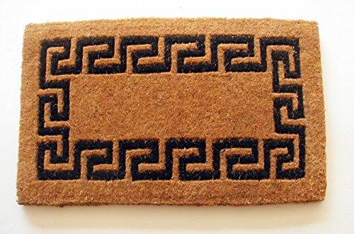(Geo Crafts Imperial Greek Key Doormat, 30 by 48-Inch, Black)