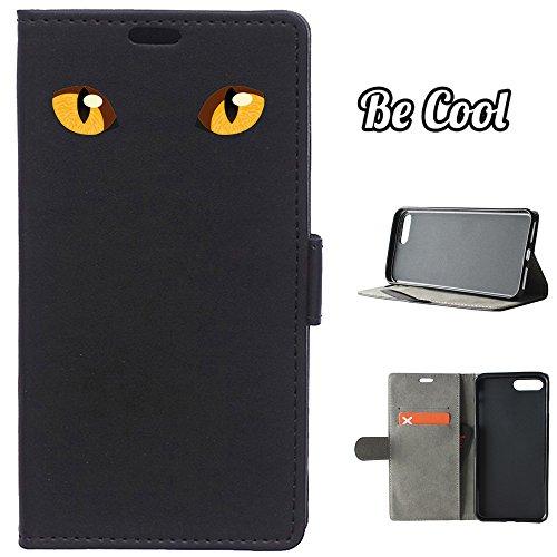 BeCool® - Housse étui [portefeuille] iPhone 7 Plus, [Fonction support], protège et s'adapte a la perfection a ton Smartphone. Elegan Wallet. Yeux de panthère