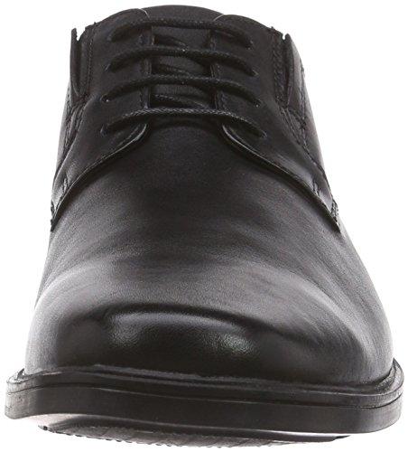 Schwarz Schnürhalbschuhe Black Herren Derby Clarks Plain Leather Tilden ZqxOwwaXz