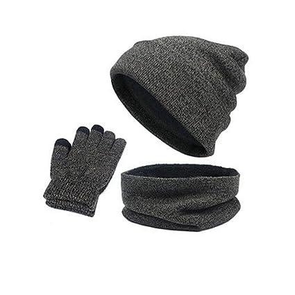 f9c2157a Amazon.com: Longay Autumn Winter Heat Suit Hat + Scarf + Gloves ...