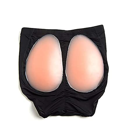 ce71431dc4848 Silicone Butt Hip Enhancer Shaper Pad Fake Sexy Buttock Panty Underwear M  Black  Amazon.co.uk  Kitchen   Home