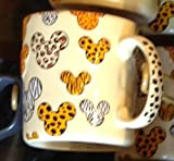 Walt Disney World Animal Kingdom Mickey Mouse Pattern Ceramic Mug Cup NEW