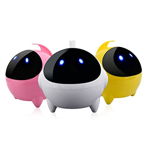 JSGJYX Altavoz Bluetooth 1PSC Mini Ordenador Portátil Altavoz Cable Cartoon Robot Hablar Mejor Bass 24 Horas