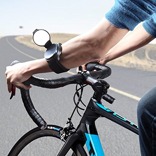 Bike Mirror,JOOKKI Rear View Bicycle Helmet Mirror,360 Degree Adjustable Wrist Mirror for Cycling by JOOKKI (Image #6)