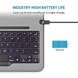 iPad Air 2 Keyboard Case, Anker Backlit Bluetooth Keyboard Case for iPad Air 2 with 5-Month Battery Life and 7 Backlight Color Modes (Not compatible with iPad Pro 9.7/iPad Air/New iPad 9.7\