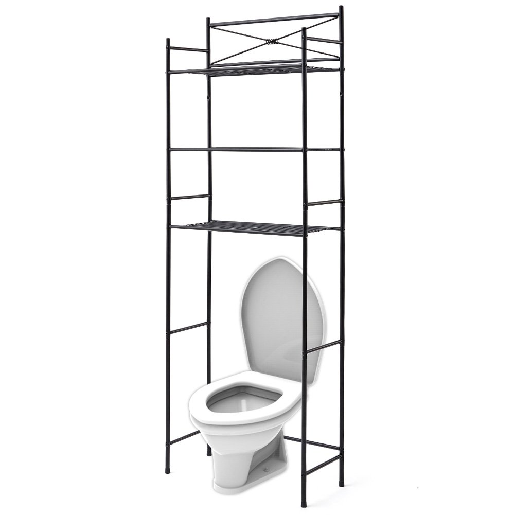 Best rated in over the toilet storage helpful customer for Chapter bathroom space saver white assembly instructions