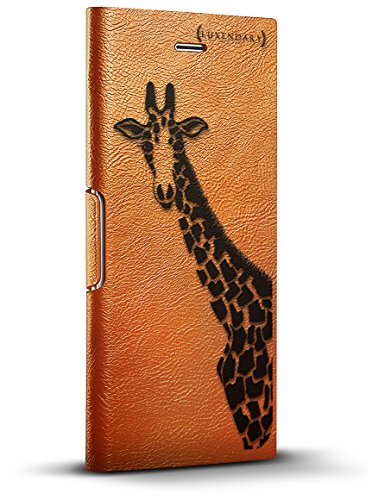 Black Giraffe Wallet - Luxendary Black Pink Giraffe Design iPhone 8/7/6 Plus (5.5