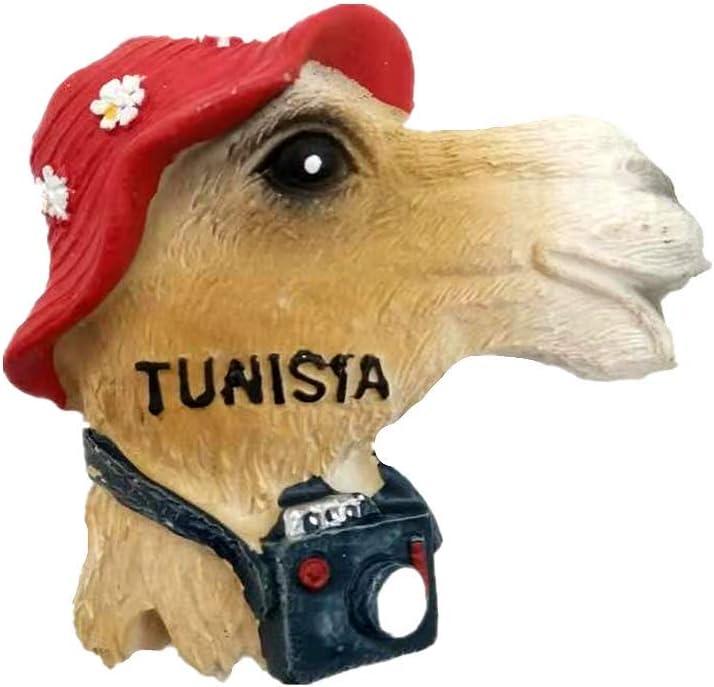 D/écoration de maison et cuisine Aimant de r/éfrig/érateur Aimant de r/éfrig/érateur 3D Camel de Tunisie Souvenir