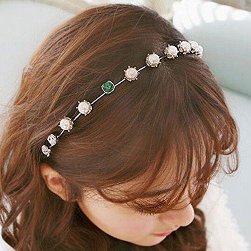 Price comparison product image Spritech(TM) Women's Sliver Bling Green Diamante Hairband Headband Diamante Hairhoop Hair Clasp