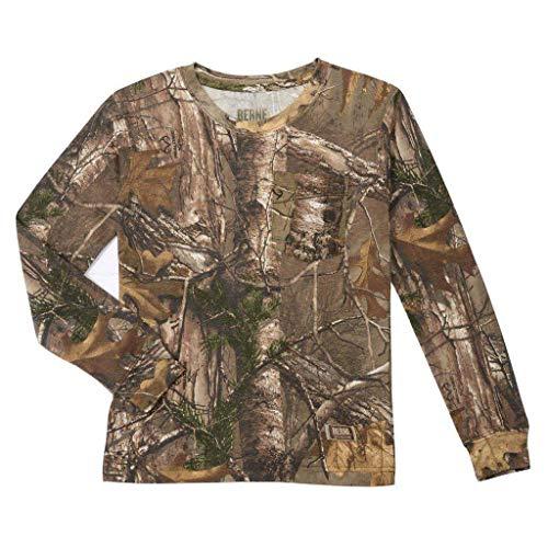 Berne Big Boys Realtree Xtra Camo Long Sleeve Pocket T-Shirt