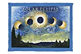 Solar Eclipse 2017 - Starry Night (60x80 Poly Fleece Thick Plush Blanket)