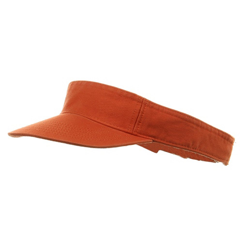 MG Youth Pro Style Cotton Visor, Orange by MG