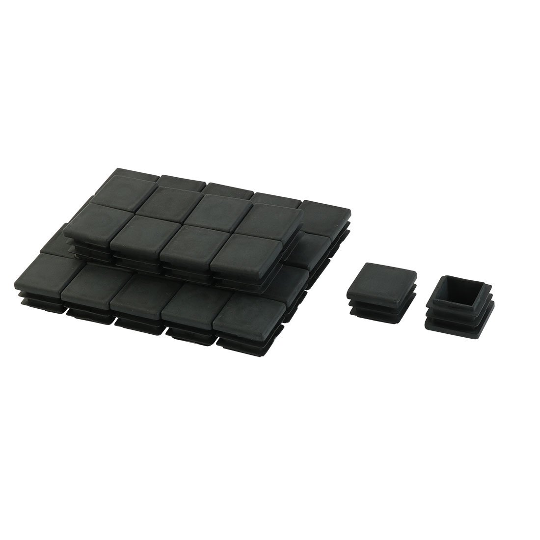 20mm x 20mm Plastic Square End Caps Tubing Tube Inserts Black 30 Pcs uxcell a15122100ux0431