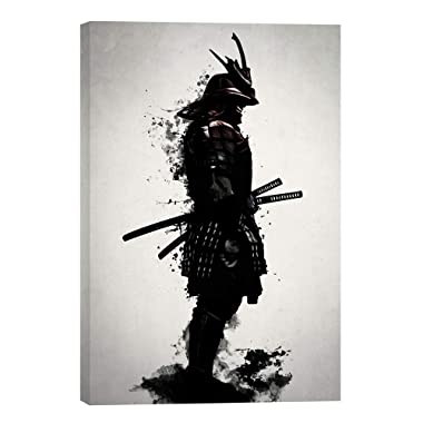 Cortesi Home EPIC-CA182697 Armored Samurai by Nicklas Gustafsson Giclee Canvas Wall Art, 18  x 26 , Black
