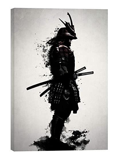 lowest price ea67f 6a3c6 Amazon.com  Cortesi Home Armored Samurai Giclee Canvas Wall Art by Nicklas  Gustafsson, 18