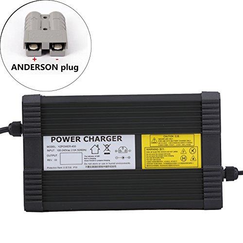 YZPOWER 42V 10A Lithium Li-ION Li-Poly Chargeur de Batterie pour 10 S�rie 36 V 10A �lectrique V�lo Anderson Plug