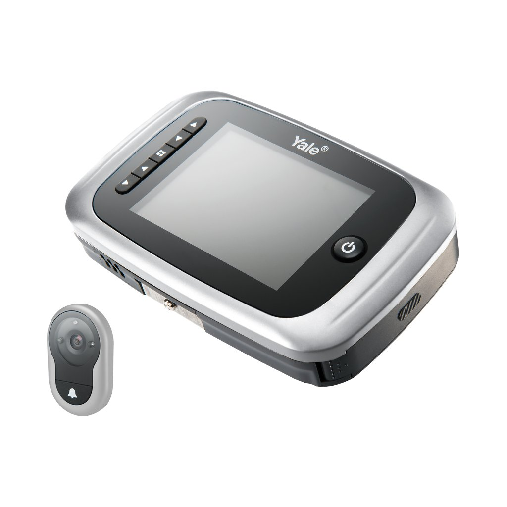 Yale Security AYRD-DDV7001-619 Digital Door Viewer with Internal Memory, Small, Silver