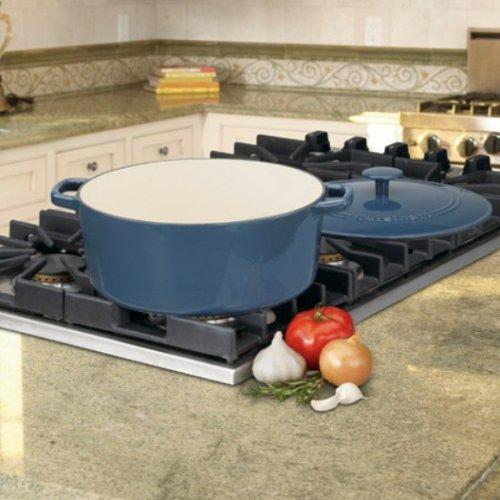 Cuisinart CI670-30BG Chef's Classic Enameled Cast Iron 7-Quart Round Covered Casserole, Provencal Blue by Cuisinart (Image #3)