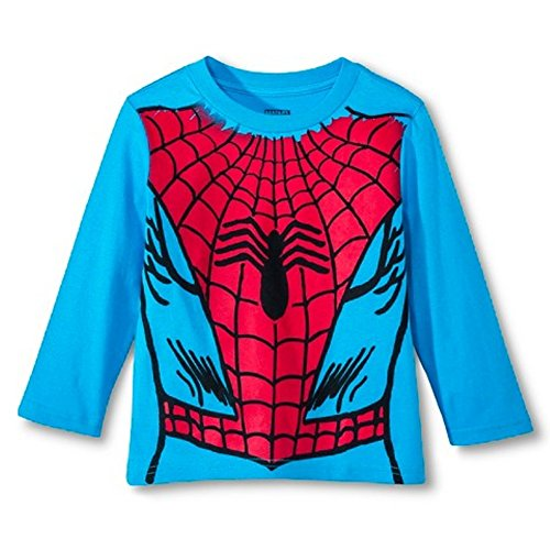 Spiderman Little Boys' Toddler Long Sleeve Costume Tee Shirt Red (3T)