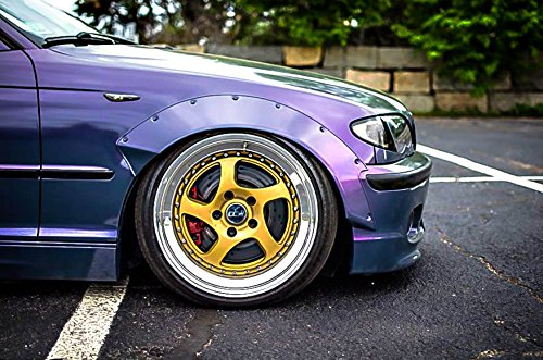 Fender Flares over wide body wheel arches Metal for BMW E46 sedan,coupe,Touring