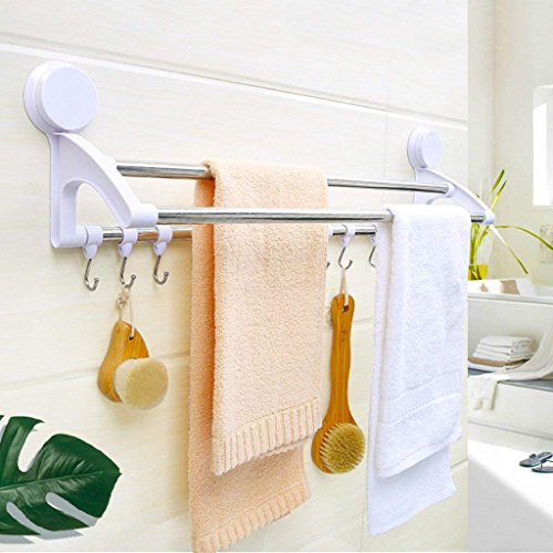 85off Zbb Cqq Towel Holder Towel Holder Sucker 3 Bar Toilet On A