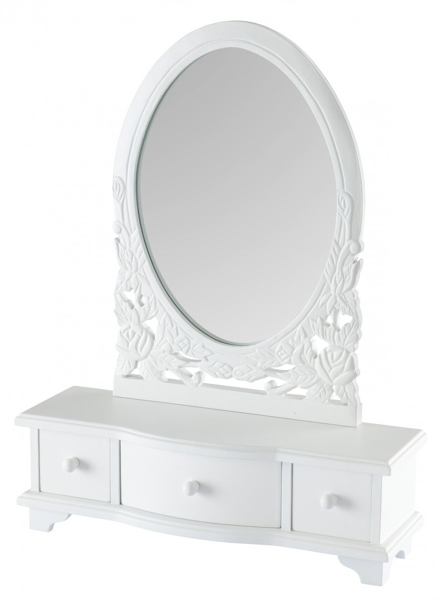 drawers amazing mirror short vanity drawer bedroom having placed cool many offers large and base looks frame white wooden in on dressing table with